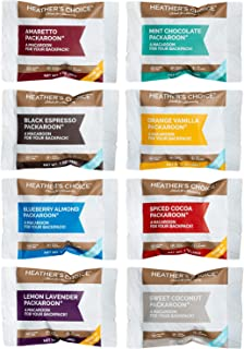 Heather's Choice Packaroons, Sampler 8-Pack or 16-Pack: Amaretto, Blueberry, Lemon Lavender, Sweet Coconut, Spiced Cocoa, ...