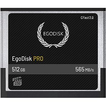EgoDisk PRO 512GB CFast 2.0 Card - (BLACKMAGIC URSA Mini | BMPCC Pocket | 4K • 4.6K • 6K | Canon • XC10 • XC15 • 1DX MARKII • C200 • C300 | HASSELBLAD H6D-50C • H6D-100C) - 3 Year Warranty