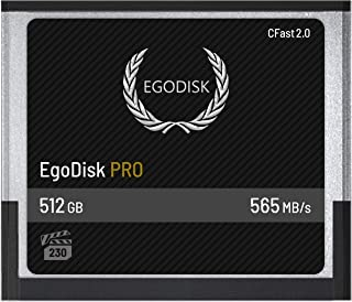 EgoDisk Pro 512GB CFast 2.0 Card - (BLACKMAGIC Design URSA Mini 4K • 4.6K | Canon • XC10 • XC15 • 1DX Mark II • C200 • C300 • C700 | HASSELBLAD H6D-50C • H6D-100C | Phantom Veo S) - 3 Year Warranty