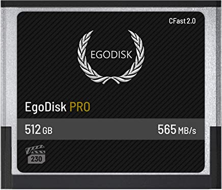 EgoDisk PRO 512GB CFast 2.0 Card - (BLACKMAGIC DESIGN URSA MINI 4K • 4.6K | CANON • XC10 • XC15 • 1DX MARK II • C200 • C700 | HASSELBLAD H6D-50C • H6D-100C | PHANTOM VEO S) - 3 Year Warranty