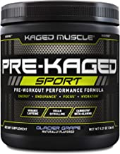 Kaged Muscle Pre Workout Powder; Kaged Muscle Pre-kaged Sport, Glacier Grape, 20 Servings, Glacier Grape, 9.38 Ounce