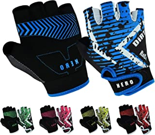 Cycling Gloves for Kids Half Finger Gloves for Children Bicycle Outdoor, Gym Gloves for Junior Toddler Boys Girls for Ridi...