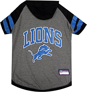 NFL Detroit Lions Hoodie for Dogs & Cats. | NFL Football Licensed Dog Hoody Tee Shirt, X-Small| Sports Hoody T-Shirt for P...