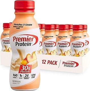 Premier Protein 30g Protein Shake, Peaches & Cream, 11.5 Fl Oz Bottle, (12Count)