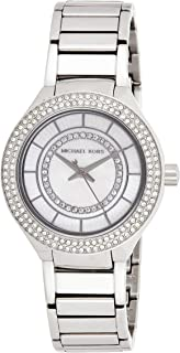 Michael Kors Womens Quartz Watch, Analog Display and Stainless Steel Strap MK3800