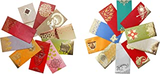 AVADOR Premium Shagun Gift Envelope (Pack of 20) Assorted Color Designs Money Holder Card Fancy Packet for Christmas Diwali Rakhi Easter Birthday Wedding Anniversary Designer Invitation Envelopes