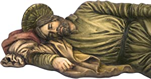 "Toccare Beautiful Sleeping Saint Joseph Statue (12"")"
