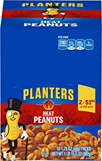 Planters Heat Peanuts (1.75 oz Packets, Pack of 18)
