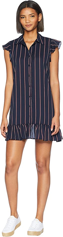 American Pie Striped Shirtdress