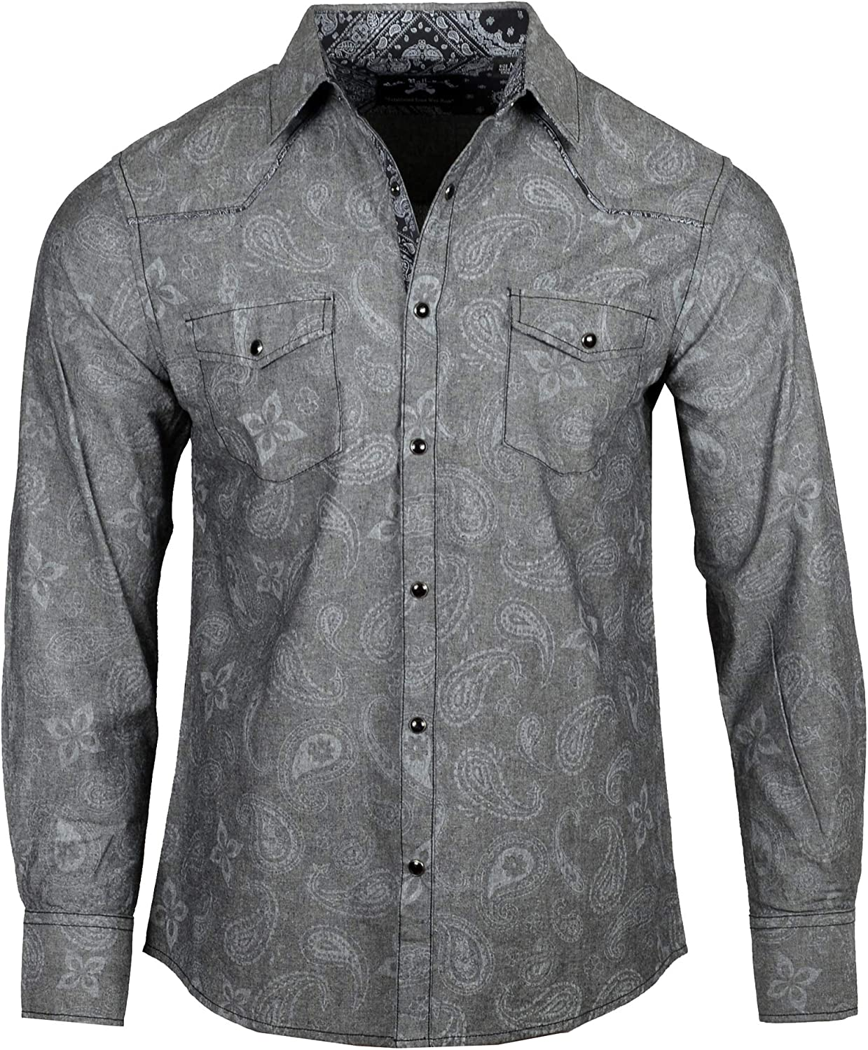 Rock Roll n Soul Men's Western-Inspired 'Somebody Told Me' Long Sleeve Button-Up Shirt 791