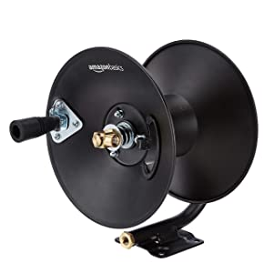 Amazon Basics Manual Hose Reel - Fits 3/8-Inch by 50-Feet Air Hoses (Not Included)