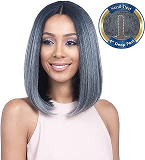 Bobbi Boss Human Hair Blend Lace Front Wig MBLF90 Swiss Lace Juba (1B)