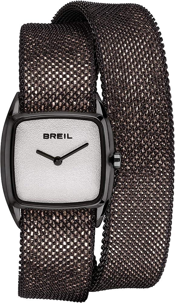 orologio breil per donna new snake con bracciale mesh in acciaio tw1855