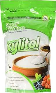 Sweet Nature Xylitol Sugar Free Sweetener Kosher All Natural Low Carb (16 OZ)