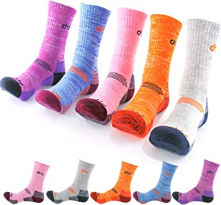 DearMy 5Pack of Women's Multi Performance Cushion Outdoor Sports Hiking Trekking Crew Socks Moisture Wicking Gifts for Women
