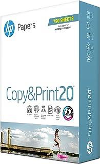 HP Paper 8.5x11 Printer Paper | Copy&Print 20 lb. | 1 Bulk Pack – 750 Sheets | 92 Bright | Made in USA – FSC Certified | 200030R