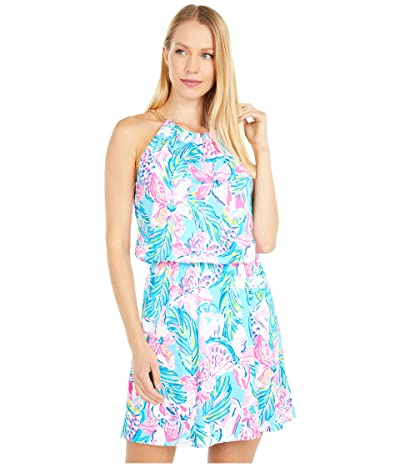 Lilly Pulitzer Bowen Skort Romper (Blue Ibiza Gimme The Juice) Women