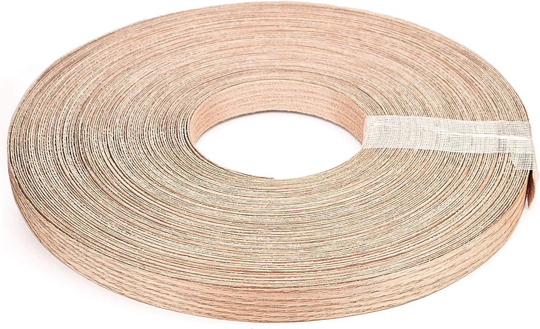 KEILEOHO 3/4 Inch x 164 Ft Red Oak Wood Veneer Edge Banding, Rol
