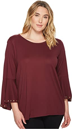 MICHAEL Michael Kors - Plus Size High-Low Flutter Sleeve Top