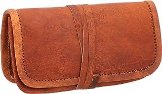 Portatabacco ''Hazel'' di Gusti Leder nature cartine sigaratte portafoglio vintage vera pelle festa disco unisex marrone A142