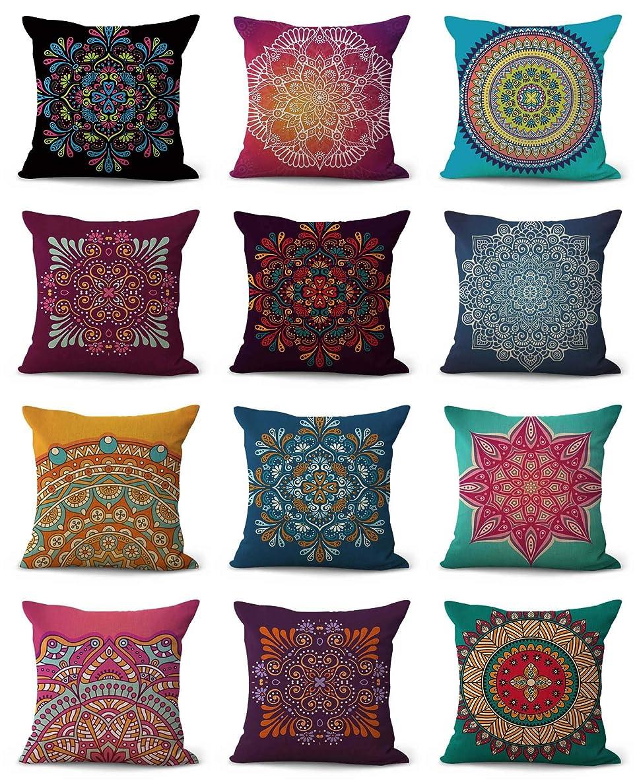 Set of 10 Bulk Wholesale Mandala Eternity Wholeness Cushion Covers Sofa Pillowcases Wicker Patio Furniture Cushion Slip Cover