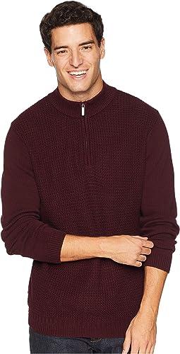 1/4 Zip Funnel Neck Sweater