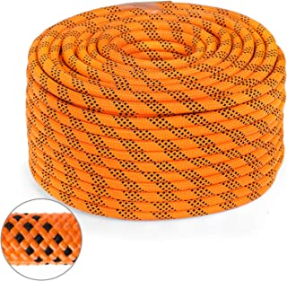 Mophorn 0.5 Inch Double Braid Polyester Rope 150 Feet Nylon Pulling Rope 880LB High Force Polyester Load Sailing Rope for Arborist Gardening Marine (0.5 Inch-150Feet)