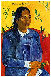American Gift Services - Artist Paul Gauguin Poster Print of Painting Vahine no te Tiare - 24x36