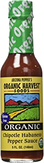 Organic Harvest Arizona Pepper's Chipotle Habanero Pepper Sauce, 5 Ounce (Pack of 12)