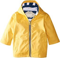 Hatley Kids - Yellow with Navy Stripe Lining Splash Jacket (Toddler/Little Kids/Big Kids)