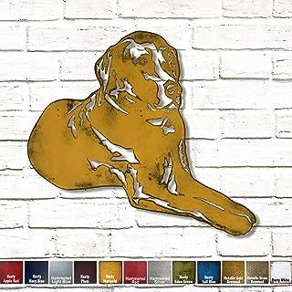 Labrador Retriever (laying down) Metal Wall Art home decor - Handmade - Choose 11
