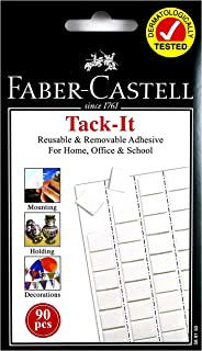 Faber-Castell GW589150 90-Pieces Tack-it Adhesive, White, 50 g