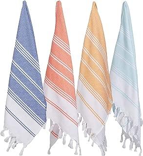 (Set of 4) Unique Hand Face Towel Set Turkish Cotton 20