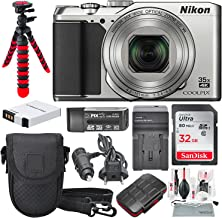 Nikon COOLPIX A900 Digital Camera (Silver) and Deluxe Accessory Bundle w/ 32GB + Camera Case + Extra Battery & Charger + Xpix Cleaning Kit + More