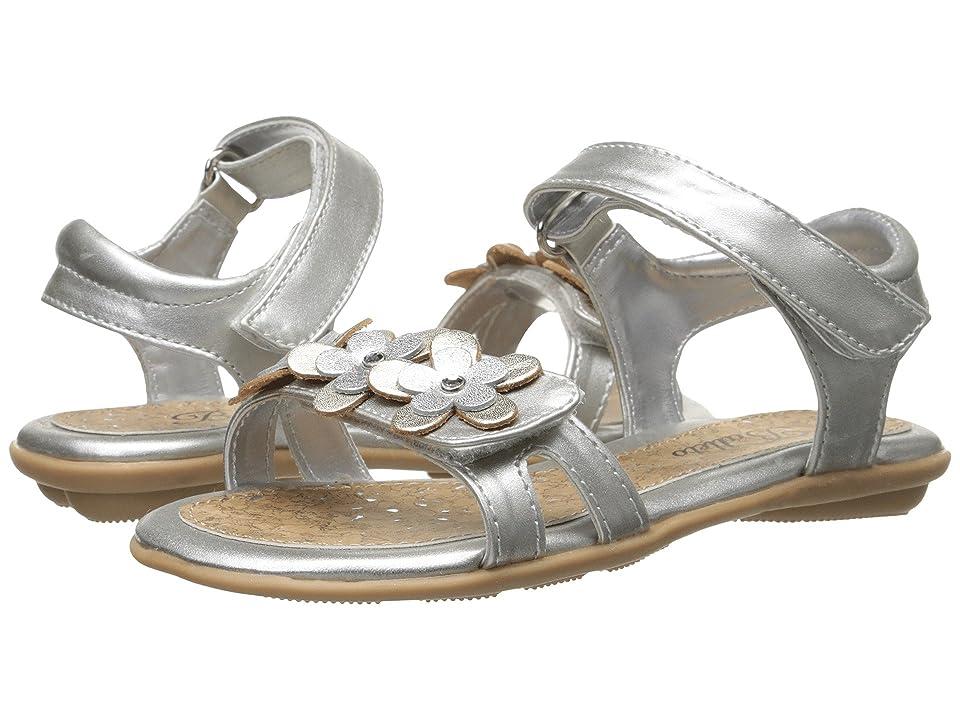 Jumping Jacks Kids Balleto Jasmine (Toddler/Little Kid/Big Kid) (Silver Metallic/Soft Gold Metallic Trim) Girls Shoes