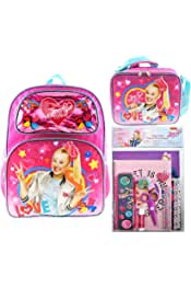 "Jojo Siwa 16/"" Backpack And Insulated Lunch Bag PLUS Folder Composition Notebook"