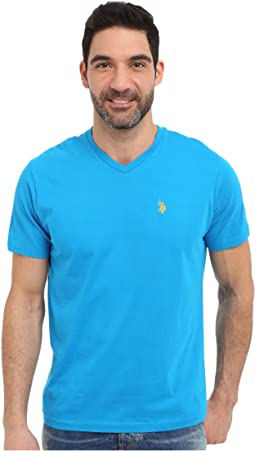 Short Sleeve Solid V-Neck T-Shirt