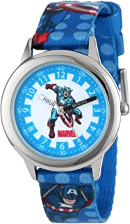 Marvel Kids' W000137 Captain America Stainless Steel Time Teacher Watch