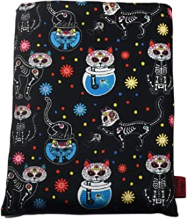 Book Sleeve Day of The Dead Cats Book Cover Medium Book Sleeves Teen Gift (Medium)