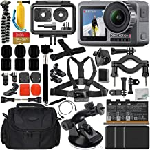 $389 » DJI Osmo Action 4K Camera with Deluxe Accessory Bundle – Includes: 2X DJI Battery for Osmo Action Camera + SanDisk Extreme 128GB microSDXC Memory Card + Carrying Case + Suction Cup Mount + More
