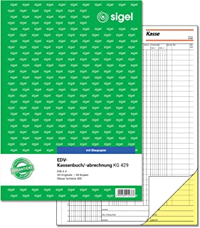 Sigel KG429EDV Accounting Book with Copy Paper, Tax Rail 300 A42x 50Sheetswith Blue Carbon Paper With Blue Carbon Pap...
