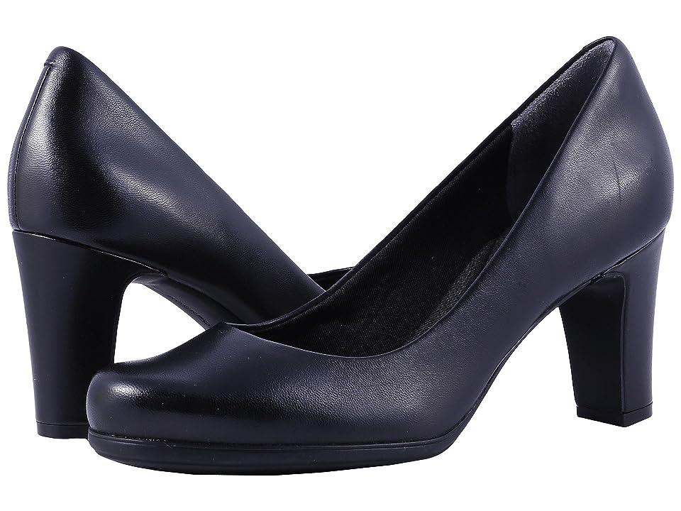 Rockport Total Motion 75mm Plain Pump (Black Leather) High Heels
