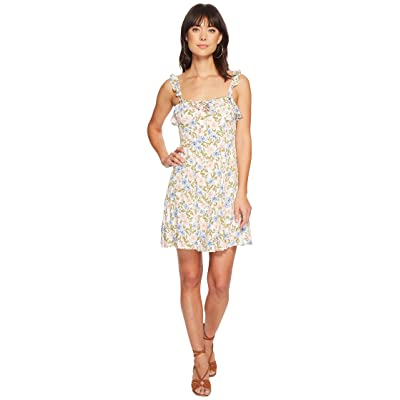 ASTR the Label Hannah Dress (Blue/Pink Floral) Women