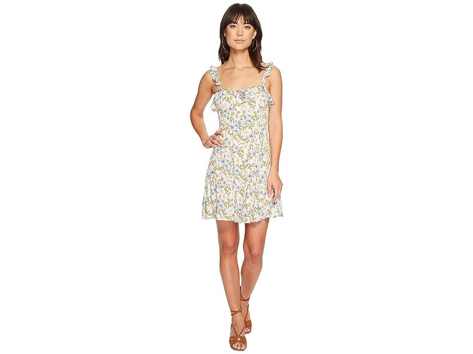 ASTR the Label Hannah Dress (Blue/Pink Floral) Women