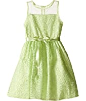 Us Angels - Embroidered Daisy Organza Mesh Dress (Toddler/Little Kids)