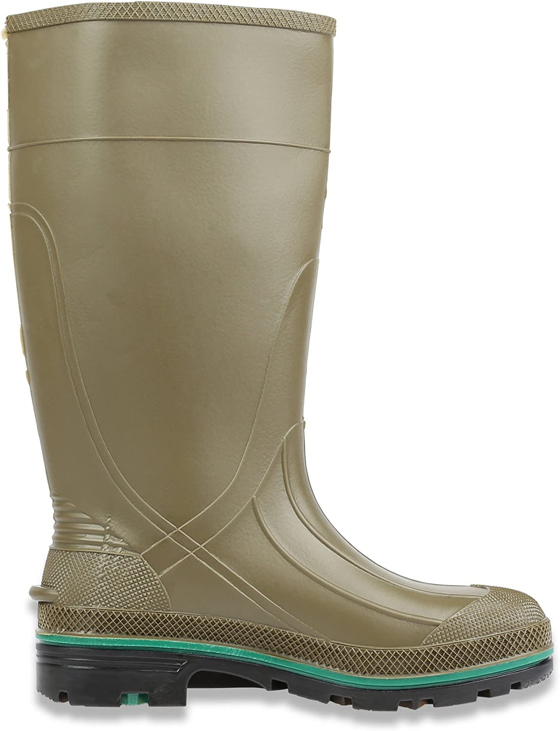 Size Olive Green /& Brown Servus MAX 15 PVC Chemical-Resistant Soft Toe Mens Work Boots 75120