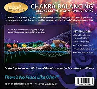 Ohm Therapeutics Deluxe Chakra Balancing Set— Multiple Octave Ohm Tuning Fork Set for Energy Practitioners & Sound Therapy...