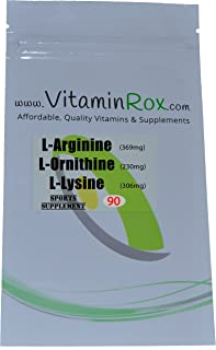L-Arginine L-Lysine L-Ornithine - 90 Tablets | AOL Amino Mix