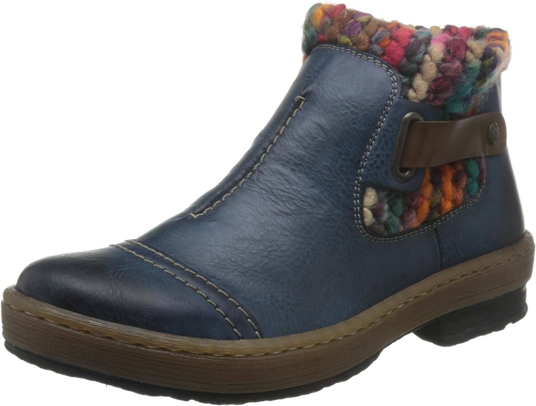 Rieker Damen Z6784 Kurzschaft Stiefel  | Ausgewählte Materialien