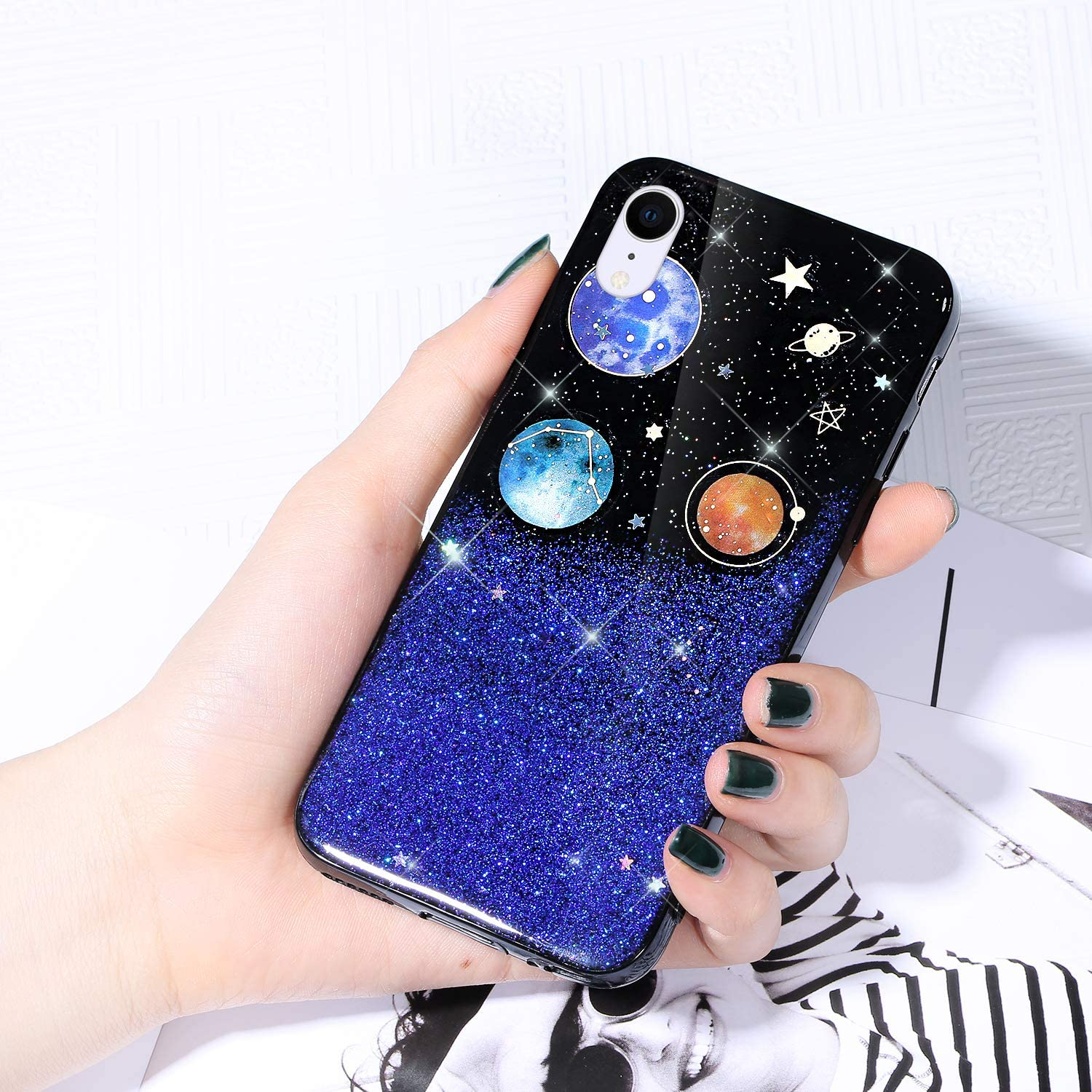 Case for iPhone Direct store XR Cover Glitter S Starry Sky Sparkle Shiny New Shipping Free